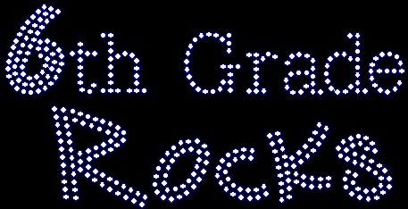 Heart Apple 6th Grade Rocks Greeting Cards (Pk of by ... |Sixth Grade Rocks